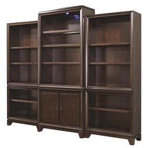 Morris Home Furnishings Viewscape Bookcase with Touch Lighting