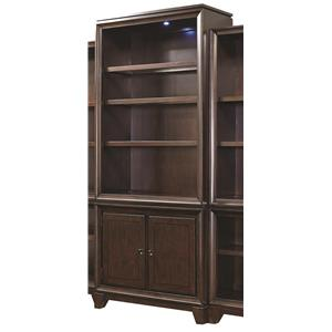 "Morris Home Furnishings Viewscape 84"" Door Bookcase"