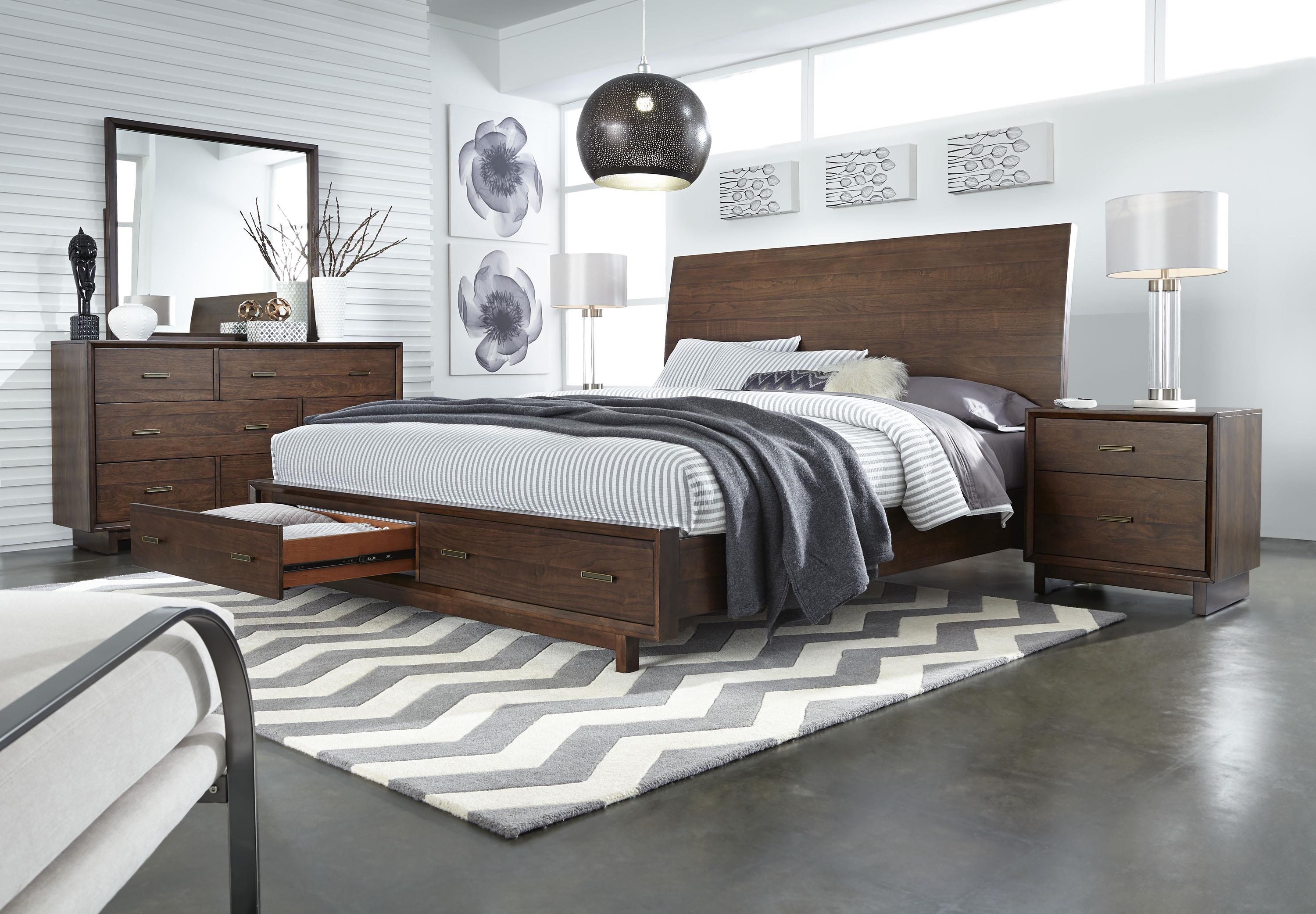 Aspenhome Walnut Heights King Bedroom Group 2 - Item Number: IWH K Bedroom Group 2