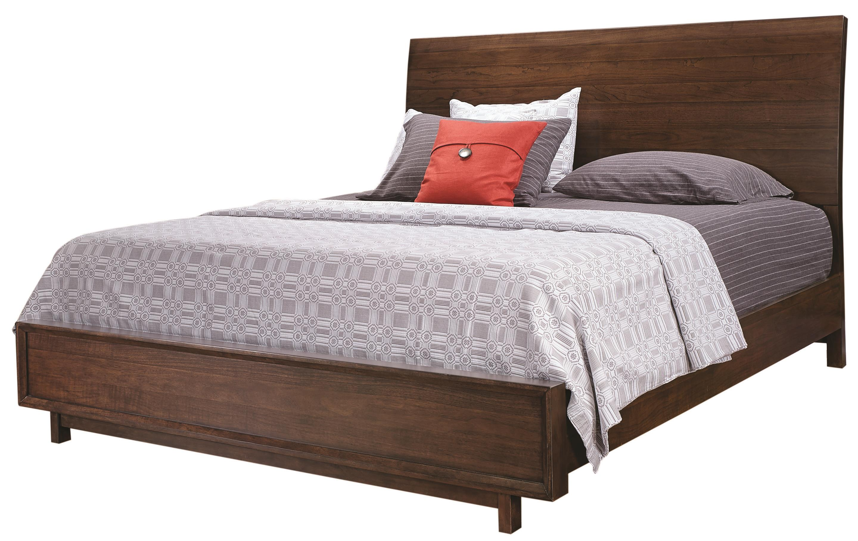Aspenhome Walnut Heights Queen Sleigh Bed - Item Number: IWH-400+403+402