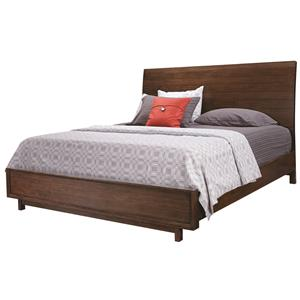 Aspenhome Walnut Heights Queen Sleigh Bed