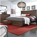 Morris Home Furnishings Walnut Heights King Panel Storage Bed - Item Number: IWH-415+407D+406