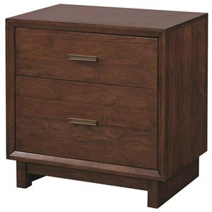 Aspenhome Walnut Heights 2 Drawer Nightstand