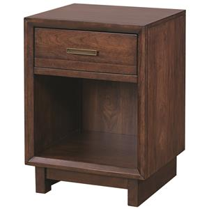 Morris Home Furnishings Walnut Heights 1 Drawer Nightstand