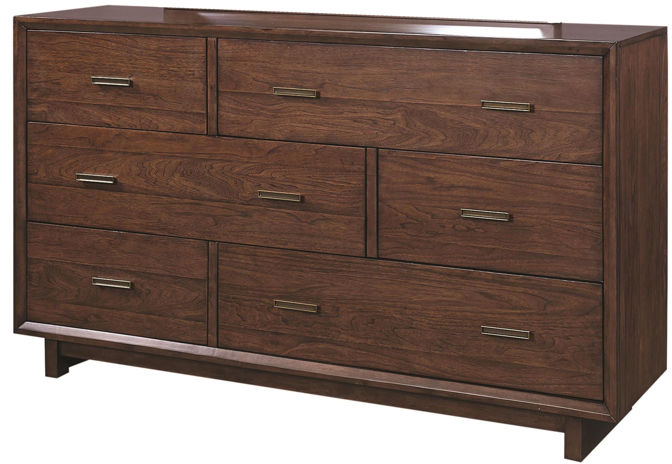"Aspenhome Walnut Heights 62"" Asymmetrical Dresser  - Item Number: IWH-453"
