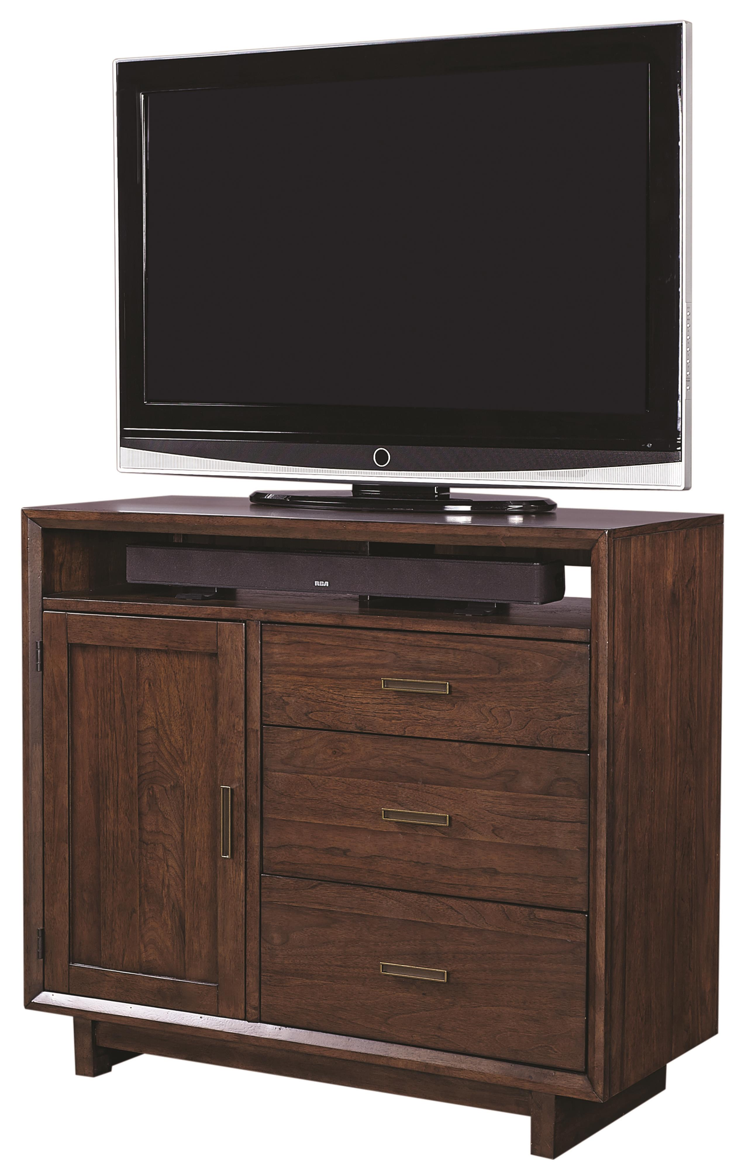 Aspenhome Walnut Heights Media Chest  - Item Number: IWH-485