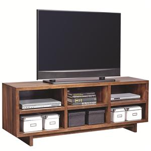 "Morris Home Furnishings Walnut Heights 65"" Open Console"