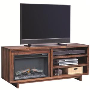 "Aspenhome Walnut Heights 65"" Fireplace Console"
