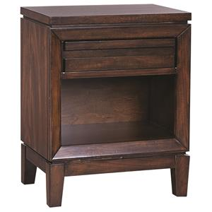 Aspenhome Walnut Park 1 Drawer Nightstand