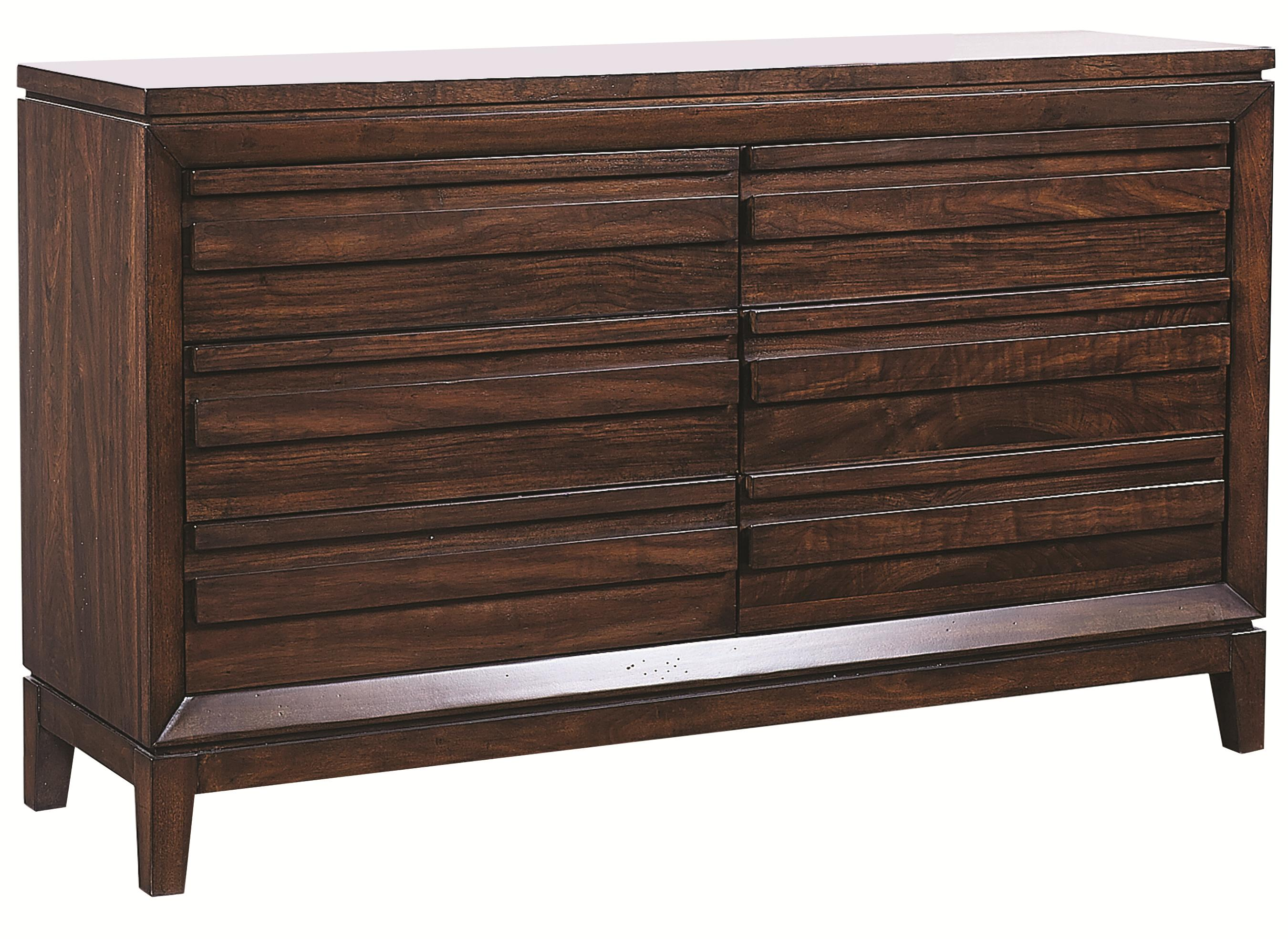 Aspenhome Walnut Park 6 Drawer Dresser - Item Number: I05-453