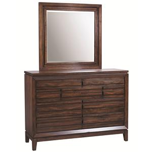 Aspenhome Walnut Park Chesser and Mirror