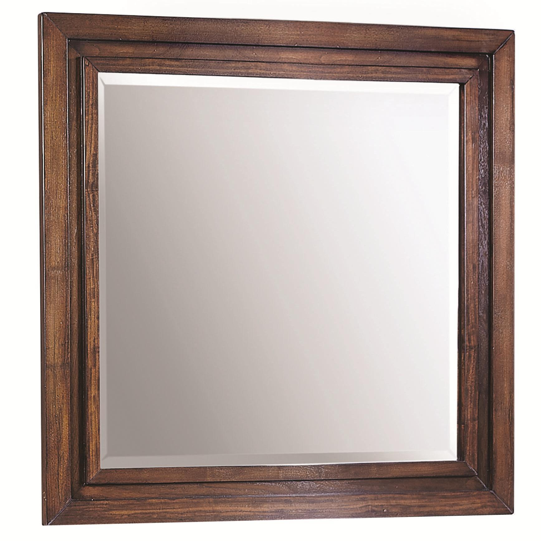 Aspenhome Walnut Park Square Mirror - Item Number: I05-463