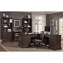 Aspenhome Weston L-Shaped Desk with Built-in Outlets