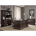 Morris Home Furnishings Birmingham Credenza with Hutch and Charging Station