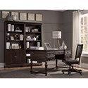 Morris Home Furnishings Birmingham Office Chair with Bonded Leather Seat