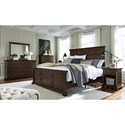 Aspenhome Weston King Panel Bed with USB Ports
