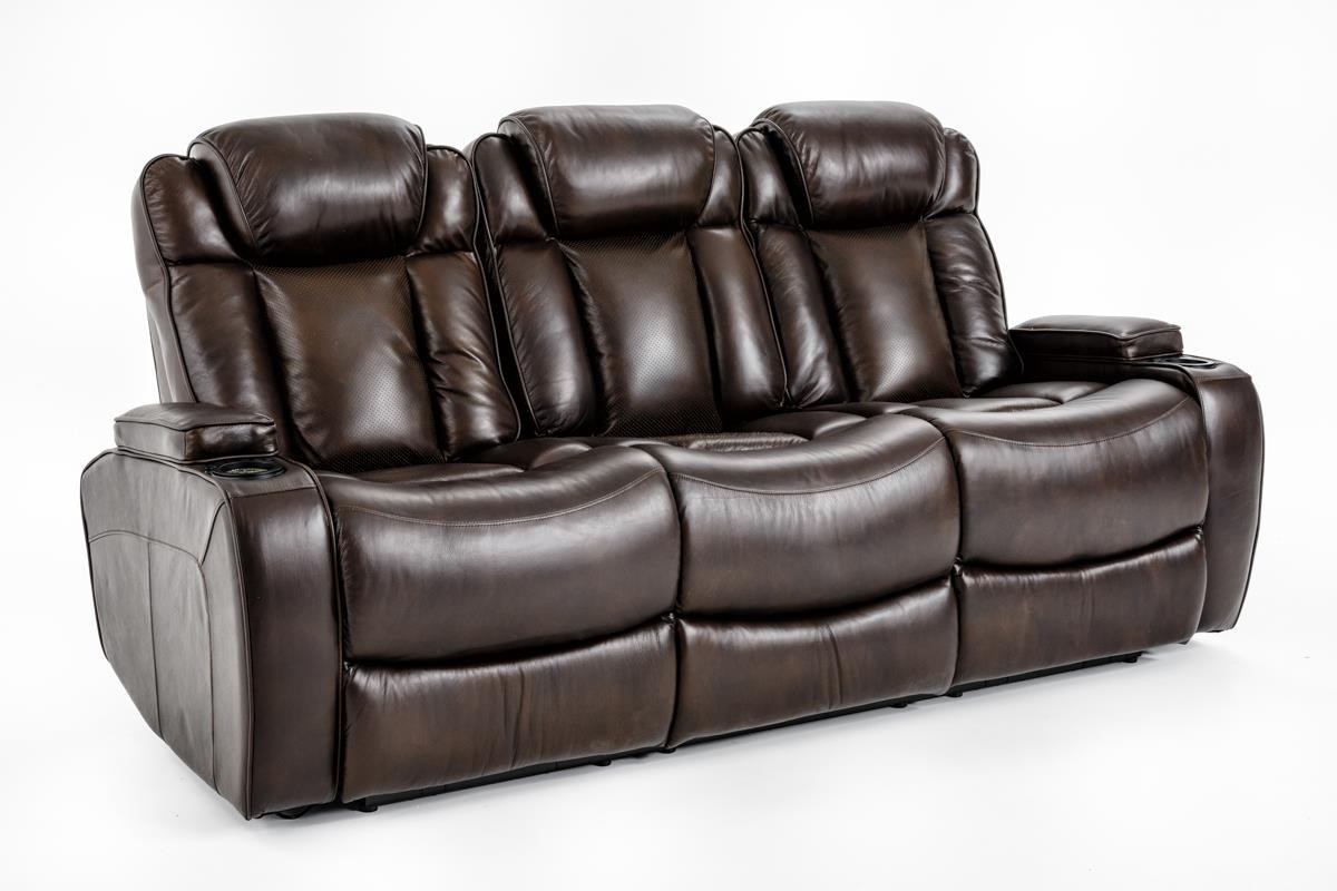 Ausen AS4062 Power Reclining Sofa - Item Number: AS4062-7406 PWR RECL