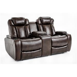 Ausen AS4062 Power Reclining Loveseat w/ Console