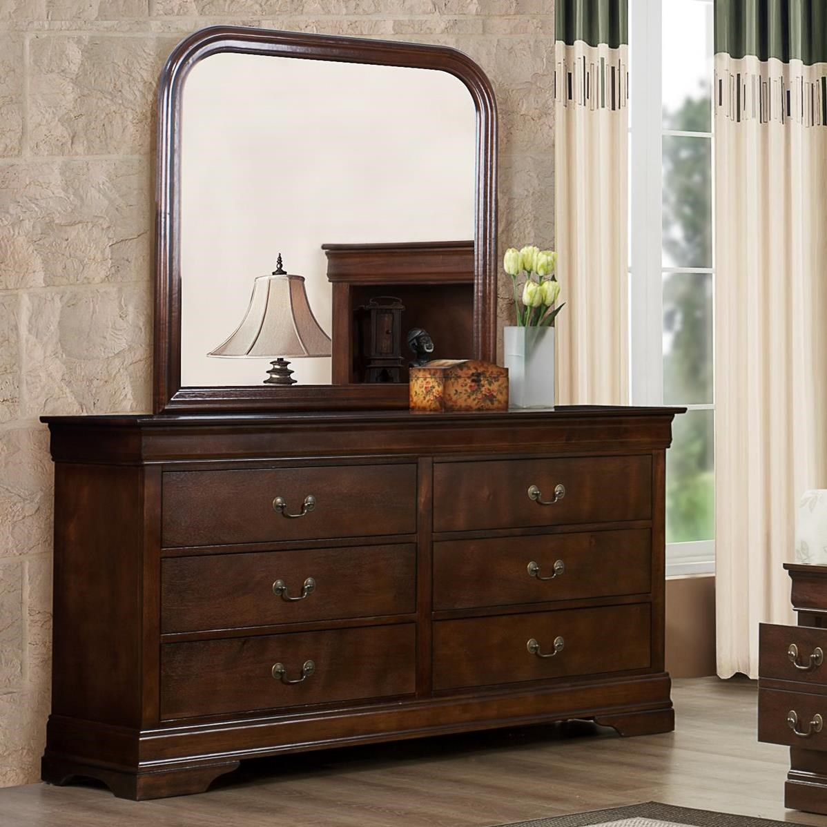 Austin Group Marseille Dresser and Mirror - Item Number: 329-10-CHR+01-CHR