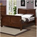 Austin Group Marseille Queen Sleigh Bed - Item Number: 329-64HF-CHR-KD+64R-CHR