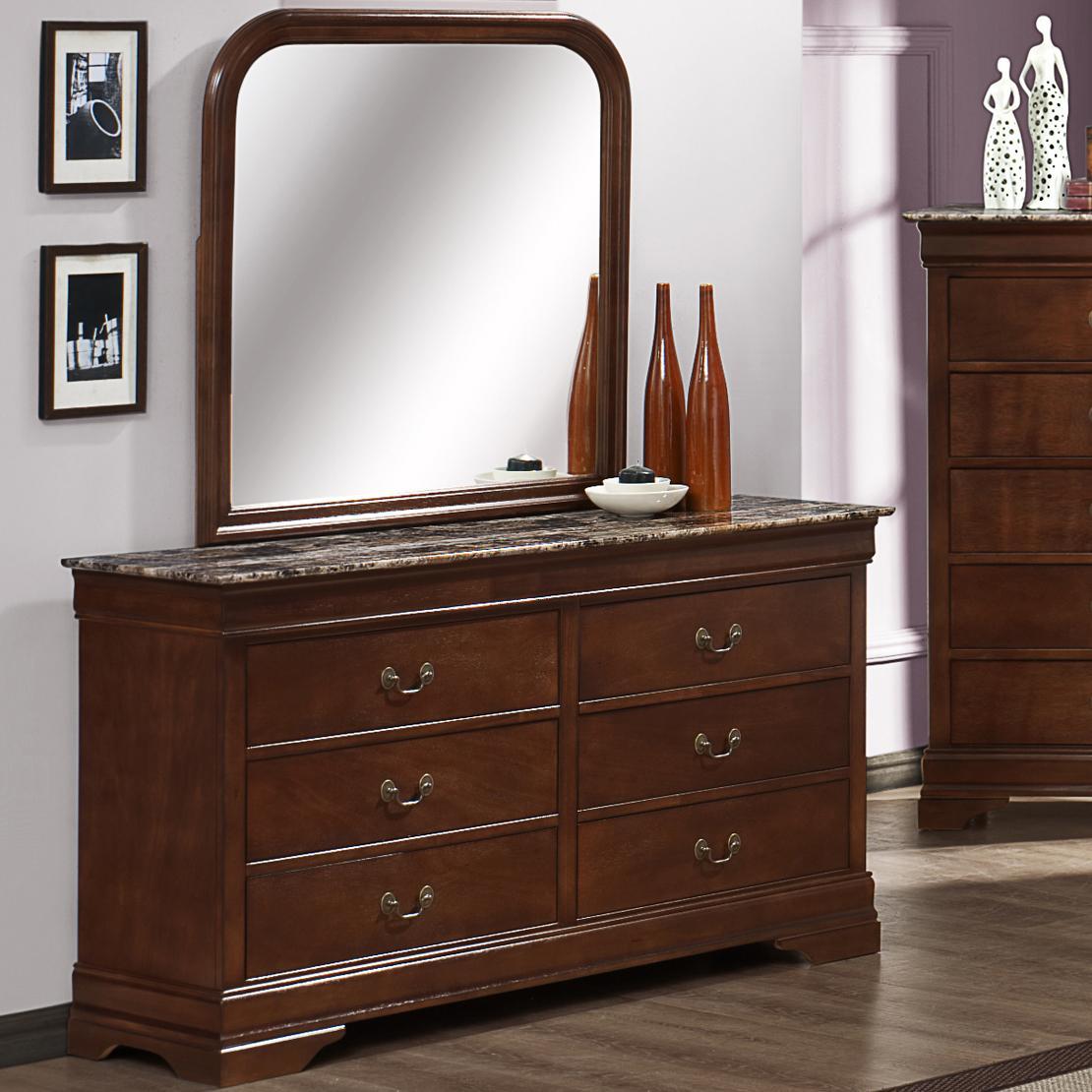 Austin Group Marseille Dresser and Mirror - Item Number: 329M-10-CHR+329-01-CHR