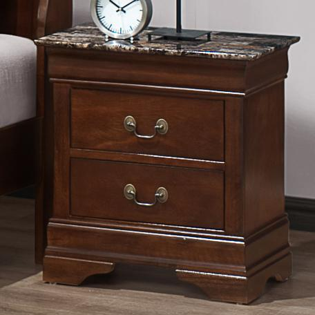 Austin Group Marseille Night Stand - Item Number: 329M-20-CHR