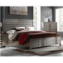 Austin Group Townsend Queen Storage Bed - Item Number: 751-60H + 60F-ST + 60R-ST