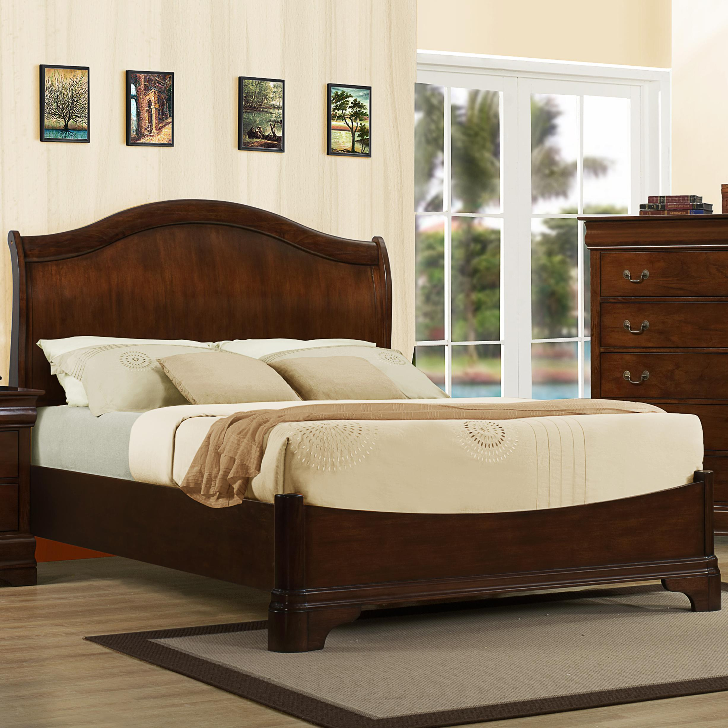 Austin Group Big Louis King Transitional Headboard Bed - Item Number: AUGR-GRP-456-KGBED