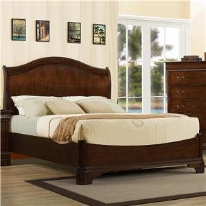 Austin Group Big Louis Queen Transitional Headboard Bed