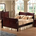 Austin Group Bordeaux  Queen Transitional Cherry Sleigh Bed - Bed Shown May Not Represent Size Indicated