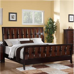Austin Group Cavalier Two-Toned King Bed with Woven Slats