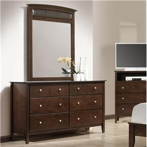 Danielle Contemporary Dresser with Mirror by Austin Group