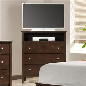 Austin Group Danielle TV Chest with Shelf and Drawers