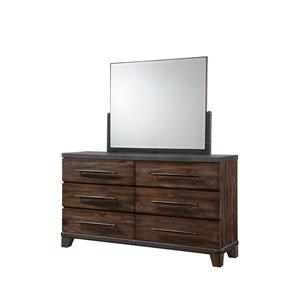 Austin Group Forge Dresser and Mirror