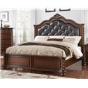 Austin Group Montarosa King Bed with Diamond-Tufted Headboa - Item Number: 65H + 65F + 60R
