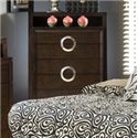 Austin Group Presley 520 Contemporary 6 Drawer Chest with Chrome Handles