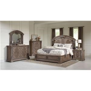 Queen Storage Bed, Dresser, Mirror & Nightst