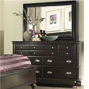 Avalon Furniture Dundee Place Dresser and Mirror Set