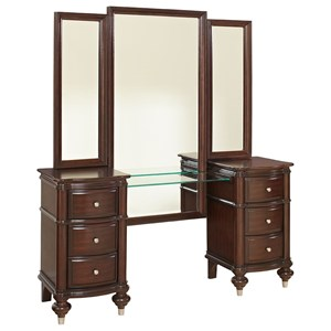 Avalon Furniture Dundee Place Vanity & Tri Fold Mirror