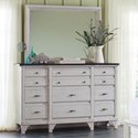 Avalon Furniture Mystic Cay Dresser and Mirror - Item Number: B0185 D+M