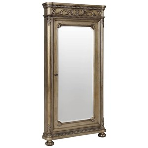Storage Floor Mirror with Bun Feet