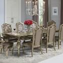 Avalon Furniture Seville Rectangular Top Leg Table w/ 2 Leaves - Item Number: D02011 DT