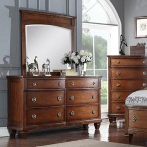 Avalon Furniture B068 Dresser & Mirror