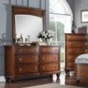 Avalon Furniture B068 Dresser & Mirror - Item Number: B068 D+M