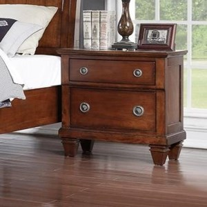 Avalon Furniture B068 Nightstand w/ Hidden Drawer/USB Chargers