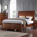 Avalon Furniture B068 King Storage Bed with Sleigh Headboard - Item Number: B068-6H+6F+56R