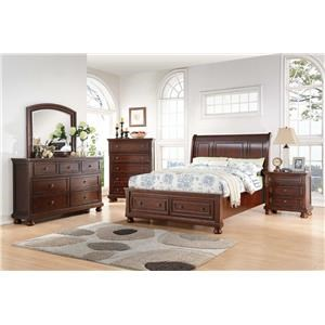 Avalon Furniture Sophia Queen Storage Bedroom Group