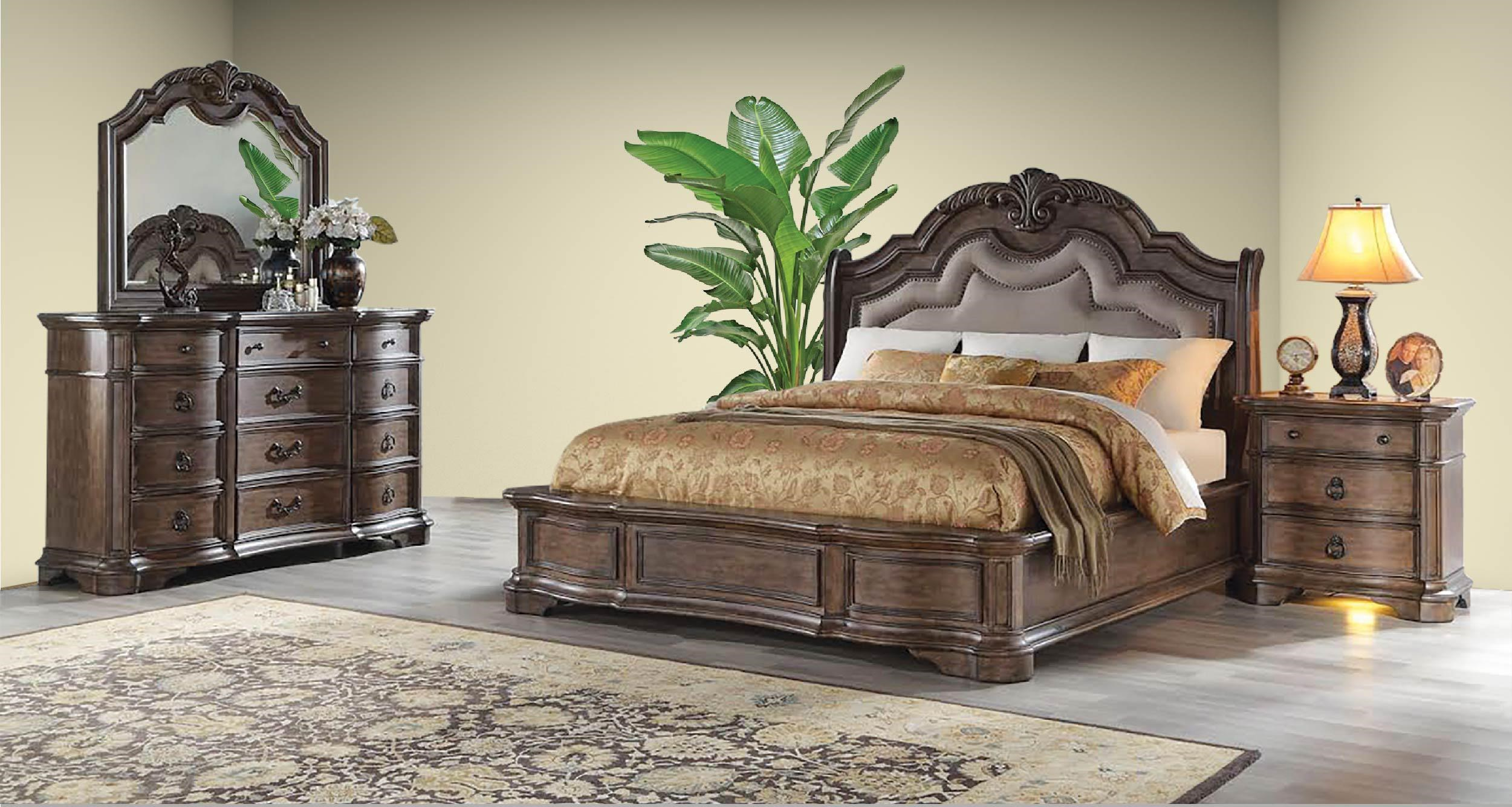 Tulsa 6 Piece King Bedroom by Avalon Furniture at Household Furniture