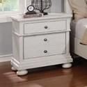 Avalon Furniture Bellville - White Nightstand - Item Number: B143 N