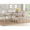 Avalon Furniture Cameo 7-Pc Pub Table and Chair Set - Item Number: D01713 GT+6xGC